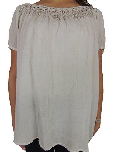 Verschiedene Farben Damen Blusen zur Auswahl Größe 44, 46, 48, 50 Cremefarbend