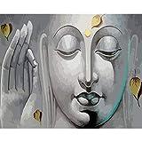 DAMENGXIANG DIY Hand Gemalt Digitale Ölbild Buddha Statue Moderne Abstrakte Kunst Bilder Für Wohnzimmer Home Decor 40 × 50 cm Ohne Rahmen