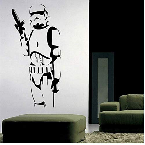 Gamloious Star Wars Stormtrooper Wall Sticker Mural Vinyle Amovible Autocollants Bricolage Home Décor