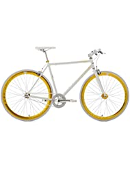 KS Cycling Uni Fitnessbike Pegado RH 53 cm Fahrrad, Weiß-Gold, 28