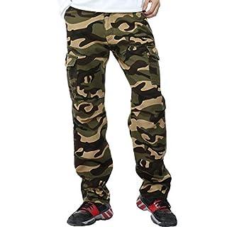AYG Velour Hose Warm Herren Cargo Pants(army green camo,32)