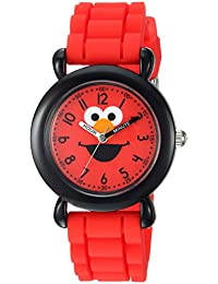 eWatchFactory Boy's 'Sesame Street' Quartz Plastic and Silicone Casual Watch, Color:Red (Model: WSS000025)