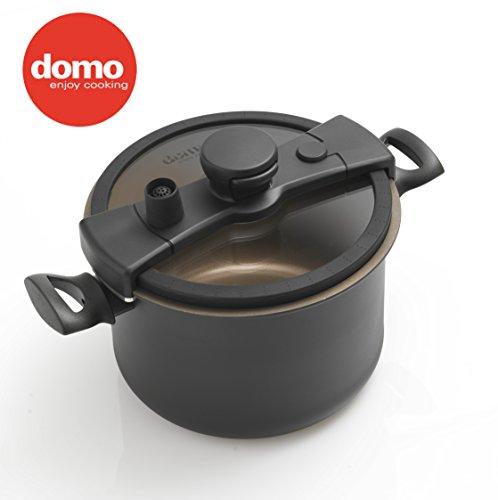 Domo Enjoy Cooking - Cook Pentola Con Coperchio, alluminio, Antracite, 24 cm
