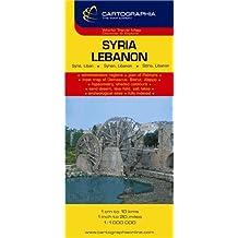 Carte Cartographia Syrie, Liban