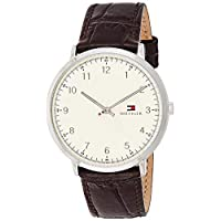 Tommy Hilfiger Mens Quartz Watch, Analog Display and Leather Strap - 1791338