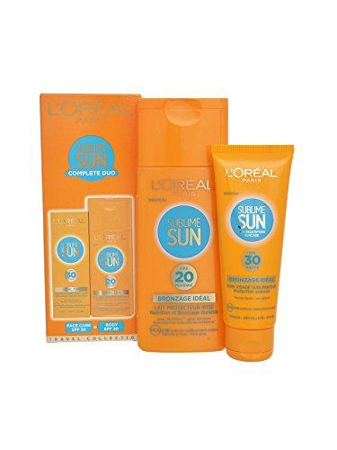 L'Oreal Sublime - Set Crema solare viso SPF 30 - 75 ml/ Crema solare corpo SPF 20 - 200 ml