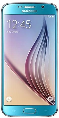 Samsung Galaxy S6 Smartphone (12,9 cm (5,1 Zoll) Touch-Display, 32 GB Speicher, Android 5.0) blau (Nur für Europäische