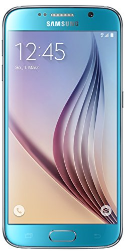 Samsung Galaxy S6 Smartphone (12,9 cm (5,1 Zoll) Touch-Display, 32 GB Speicher, Android 5.0) blau (Nur für Europäische SIM-Karte)