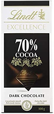 Lindt Excellence Dark Chocolate 70% Cocoa, 100 gm
