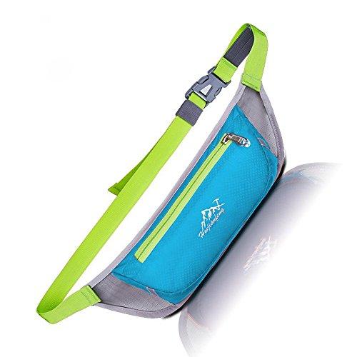 FFZH Nuove borse unisex di tasca, outdoor sport accessori Pack , pink sky blue