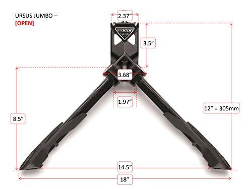 Zweibeinständer Ursus Jumbo 28' Schwarz, 300Mm, mit Platte und Schraube
