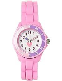 Tikkers TK0003 - Reloj analógico infantil de cuarzo con correa rosa