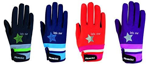 Roeckl Sports Junior Handschuh -Kelli- Kinder Reithandschuh, Beere, 4