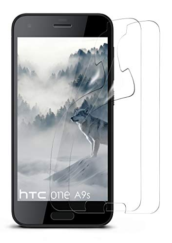 moex 2X HTC One A9s | Schutzfolie Klar Bildschirm Schutz [Crystal-Clear] Screen Protector Display Handy-Folie Dünn Bildschirmschutz-Folie für HTC One A9s Bildschirmfolie