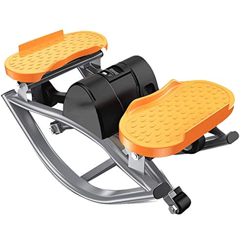 GJFeng FE Stepper Mini Klettermaschine Indoor Sports Home Beine Fitnessgeräte (Color : Black+orange, Size : 49 * 23 * 27cm)