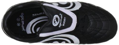 Optimum Eclipse, Scarpe da rugby uomo Nero (Nero/Bianco)