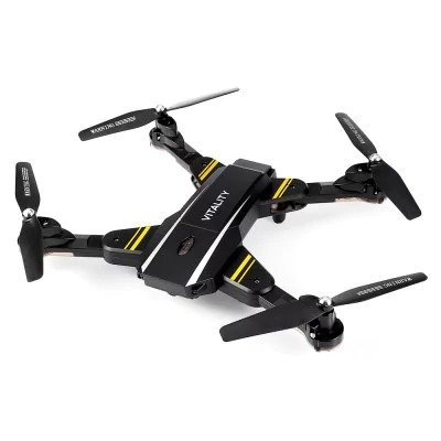 SYMTOP RC Drone Quadcopter TK116W VITALITY Foldable RTF BLACK WiFi FPV 720P HD Waypoints G-sensor Mode
