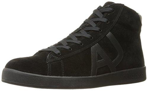 Armani Jeans Herren Sneaker High Cut Hohe, Schwarz (Nero), 45 EU (High-cut Herren)
