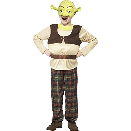 Oger Kostüm Shrek - Smiffys Kinder Kostüm Oger Shrek Karneval Fasching S 4 bis 6 Jahre