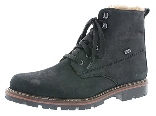 Rieker Herren Winterstiefel 37742,Männer Winter-Boots,Fellboots,Fellstiefel,gefüttert,warm,schwarz/schwarz, EU 42