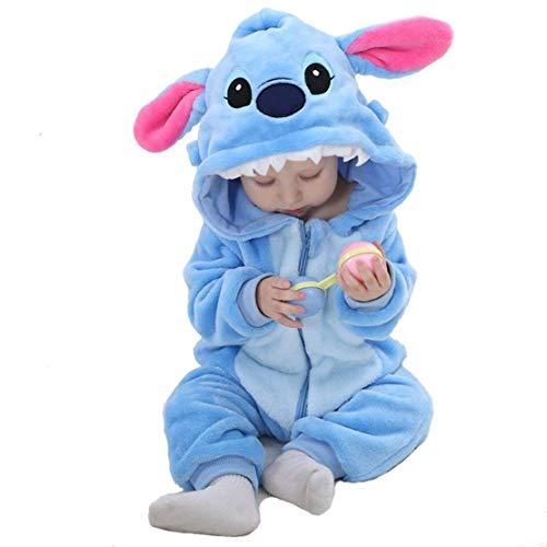 Jungen Kostüm Dinosaurier - Amooy Dizi Baby Strampler Tier Spielanzug Flanell Jumpsuit Winter Bekleidung Babybekleidung (Stich, 90 cm (110))
