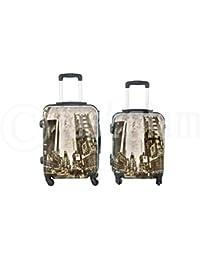 Maleta cabina 55 cm. 4 ruedas trolley cascara dura adecuadas para vuelos de bajo coste …