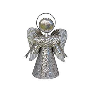 Engel Weihnachtsdeko 20cm - silber | Deko-Figur Engel aus Blech | Handarbeit | Deko Figur | Weihnachten Figur Dekoration
