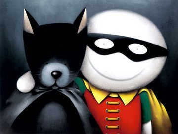 Catman-And-Robin-Limited-Edition-Print-By-Doug-Hyde