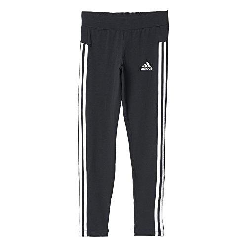 adidas Mädchen YG 3-Stripes Tights, Black/White, 128 (Tights 3-stripes Kurze)