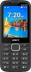 ZEN Atom 301 Dual SIM Feature Phone (Black-Orange)