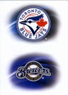 2015 Topps Baseball Sticker #159 Milwaukee Brewers / #151 Toronto Blue Jays