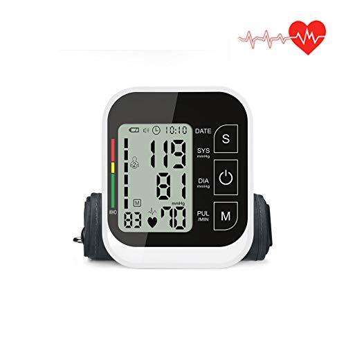 DZWJ Blutdruckmessgerät, Arm messen den Blutdruck und den Puls mit einem 3,5-Zoll-LCD-Display mit großer Reichweite und 2 x 99 Speicherplätzen
