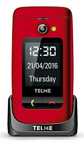 emporia flip basic f220 Emporia TellMe X200 Grosstasten-Klapphandy (mit Farbdisplay Aussendisplay Notruftaste VGA-Kamera), Rot