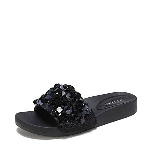 Flache sommersandalen/Mode tragen diamant sandalen B