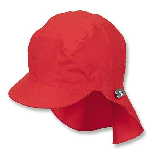 Sterntaler - Mädchen Schirmmütze mit Nackenschutz, Sommermütze, rot - 1531430,...