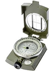 Kry tragbarer Wasserdichter Militär-/Armee-/Geologie-Kompass Metall-Kompass Multifunktionell zum Wandern Klettern Camping Erforschen, mit fluoreszierendem Licht