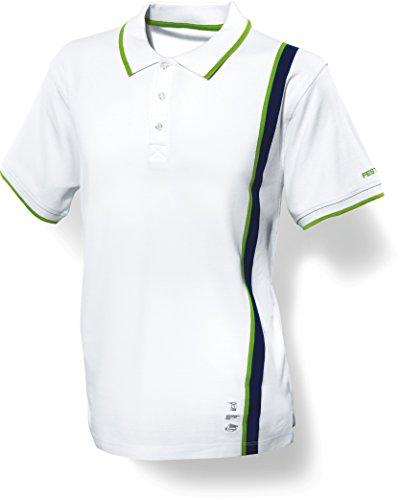 Preisvergleich Produktbild Festool Poloshirt Herren M, 1 Stück, wieß/grün, 498463
