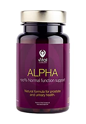Alpha - Effective Men Prostate Help Pills. Food Supplement with Pumpkin Seeds, Nettle Leaves and Chamomile Blossom Extracts Tablets. Normal Prostate Function Support, Helps Urinary Tract Disorders and Improves Micturition. 60 Veggie Capsules from Vital Co