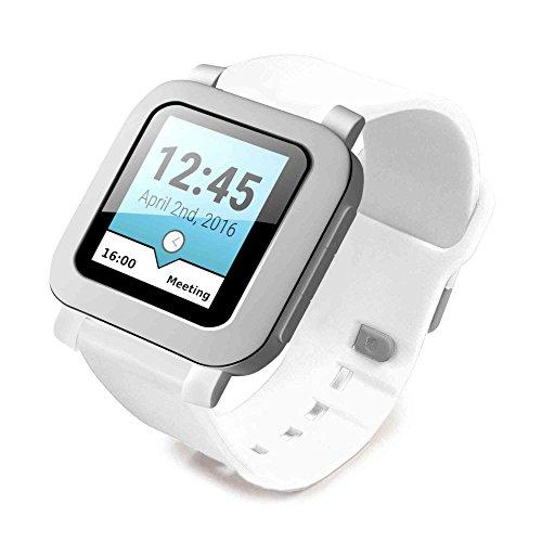 tuff-luv-silicone-bracelet-bande-pour-pebble-smartwatch-blanc