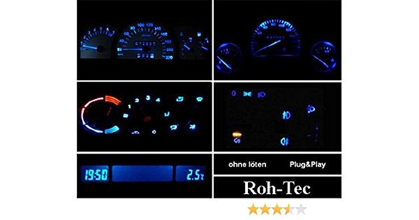 Led Mg Cockpitbeleuchtung Komplettset Für Corsa B Combo B Tigra Astra F Blau Rot Grün Weiß Grün Auto