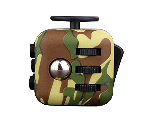 2pcs/set New Fidget Cube Anxiety Stress Relief Focus Toys Gift Camouflage Blue Army Green Puzzle Cube -