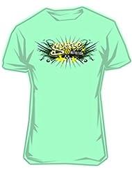 Scitec Wear - Camiseta Chica Graffiti Mint - L-Grande, Verde