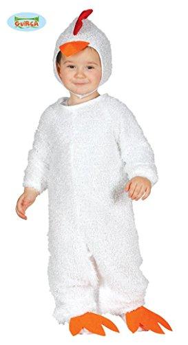 Küken Kostüm für Kinder Hühner Tier Huhn Babykostüm Tierkostüm Gr. 74-92, Größe:86/92 (Huhn Baby Halloween Kostüm)