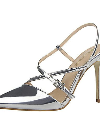 WSS 2016 Chaussures Femme-Décontracté-Noir / Blanc / Argent / Or / Champagne-Talon Aiguille-Talons-Talons-Polyuréthane silver-us6.5-7 / eu37 / uk4.5-5 / cn37