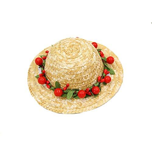 Hund Sombrero Hut Mini Straw Sombrero Bunte Hüte Geburtstag Party Weihnachtsmütze für Welpen Teddy Kitten