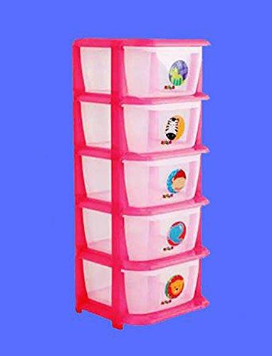 ShopyBucket 5 layer Large thick plastic bin storage cabinet drawer cabinett wardrobe lockers baby Drawers
