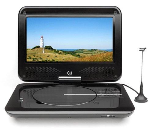 Dual DVD-P 905 Tragbarer DVD-Player (22,9 cm (9 Zoll) LCD-Monitor, DVB-T-Tuner, USB Anschluss) schwarz