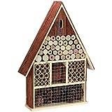 Perel bb50503Grand Hôtel à insectes en bois avec toit écorce