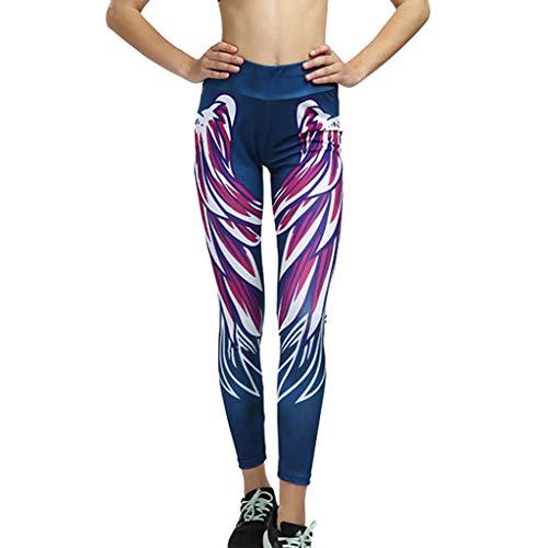 Cooljun Womens Dress Pant Stretch-Hose für Arbeit & Freizeit Needle Six Line Digitaldruck Yoga Thread Hosen und Hüften High Waist Thread Hosen - Mesh Womens Pants