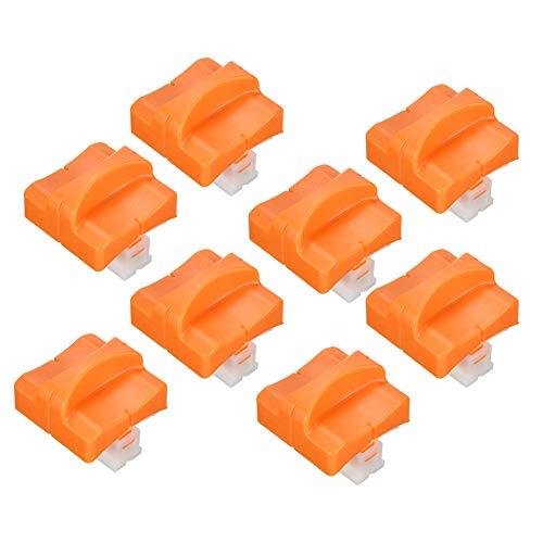 8 Stück Papierschneider Ersatzklingen mit Sicherheitssicherung Design für Papierschneider, Orange (A4)